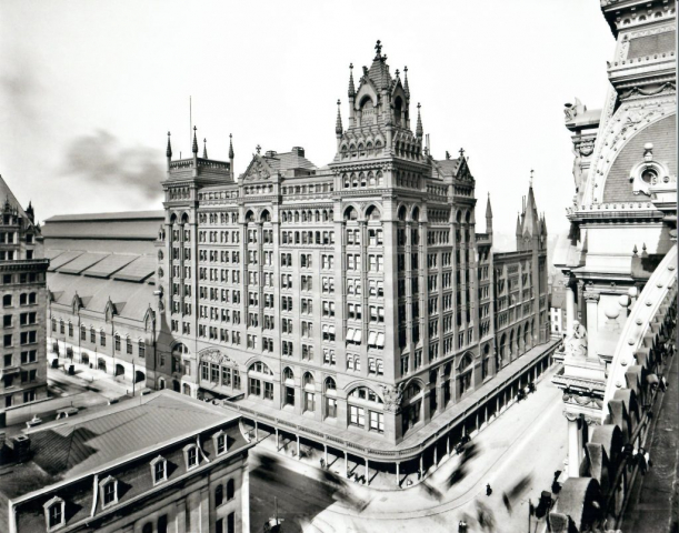 Pennsy Broad Street Station as seen from Phila. City Hall